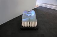 2_JulieMalen_RaggedSopris, SingleChannelVideowithSound,Ceramic, Steel, Plexi Glass, EVA Foam, 13'x20'x10', 2014