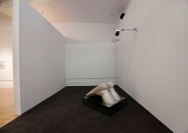 5_JulieMalen_RaggedSopris, SingleChannelVideowithSound,Ceramic, Steel, Plexi Glass, EVA Foam, 13'x20'x10', 2014